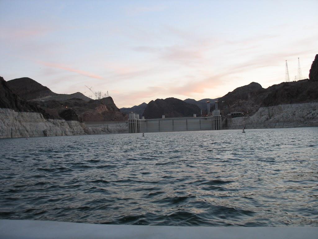 behind Hoover Dam